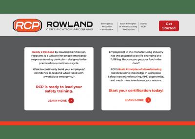 Rowland Certification Programs